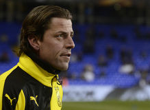 Roman Weidenfeller. Football player pictured prior to the UEFA Europa League round of 16 game between Tottenham Hotspur and Borussia Dortmund on March 17, 2016 stock image