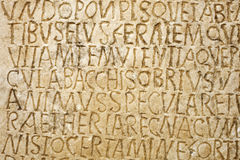 Roman writing Royalty Free Stock Image