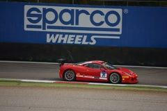 Roman Yakuskin Ferrari 458 utmaning Evo på Monza Royaltyfri Bild