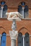 Roman zij-wolf in Siena Stock Foto's