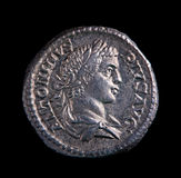 Roman Zilveren Muntstuk - Antoninus Royalty-vrije Stock Foto