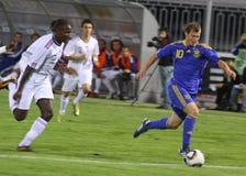 Roman Zozulya het Nationale Team van van de Oekraïne (onder-21) Stock Foto's