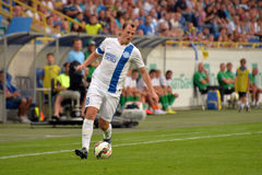Roman Zozulya is running with the ball Stock Photography