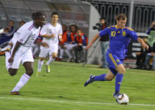 Roman Zozulya of Ukraine (Under-21) National Team Stock Photos