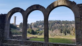 Ruin in Fiesole near Florence Royalty Free Stock Photography