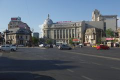 Romana Square in Bukarest Lizenzfreie Stockfotos