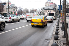 Romana square busy traffic Royalty Free Stock Photos