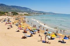 Romana strand i Alcossebre, Spanien Royaltyfri Bild