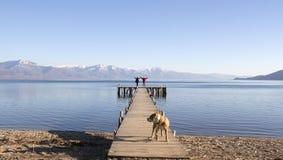 Romance на пристани prespa озера, македонии Стоковая Фотография