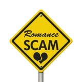Romance предупредительный знак желтого цвета аферы иллюстрация штока