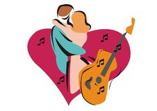 Romance. An illustration of love songs and romance Royalty Free Stock Image