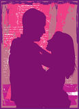 Romance. Various forms of romance in colours royalty free illustration