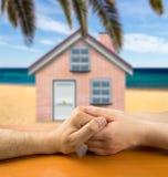 Romance на пляже Стоковые Изображения RF