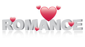 Romance. Text around little hearts vector illustration