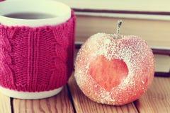 Romance apple  hear  symbol Royalty Free Stock Image