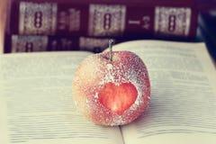 Romance apple heart symbol Stock Photos