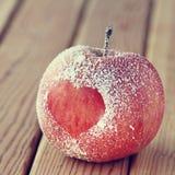 Romance  apple heart symbol Stock Photography