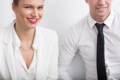 Romance an Arbeitsplatz Lizenzfreie Stockbilder