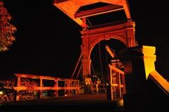 Romance auf der Brücke Lizenzfreies Stockfoto