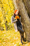 Romance in autumn Stock Images