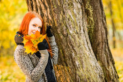 Romance in autumn Stock Photos