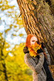 Romance in autumn Royalty Free Stock Photography