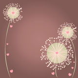 Romance background. With hearts and flowers Royalty Free Stock Photo