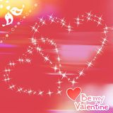 Romance background with lighting hearts Stock Photography