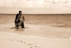Romance: Beach Couple Stock Photos