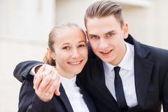 Romance bei der Arbeit Stockfoto