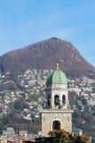 Romance belltower. Lugano, Switzerland Stock Image