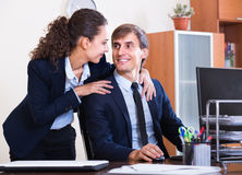 Romance between boss and assistant Royalty Free Stock Image