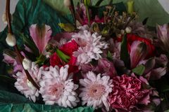 Romance flower bouquet. Romance bouquet with various flower Royalty Free Stock Photo