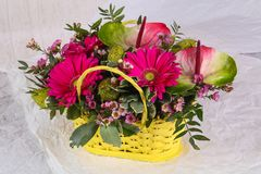 Romance flower bouquet. Romance bouquet with various flower Royalty Free Stock Photography