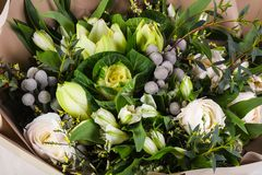 Romance flower bouquet. Romance bouquet with various flower Royalty Free Stock Image