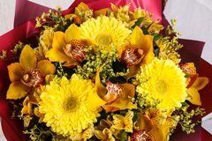 Romance flower bouquet. Romance bouquet with various flower Stock Images