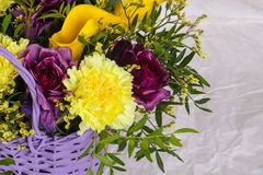 Romance flower bouquet. Romance bouquet with various flower Royalty Free Stock Photos