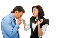 Romance and business Stock Images