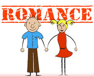 Romance Couple Represents Devotion Couples And Fondness. Romance Couple Indicating Loving Passion And Romantic Royalty Free Stock Photo