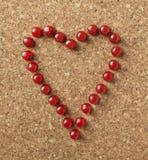 Romance d'amour de forme de coeur Images libres de droits
