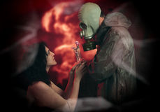 Romance d'apocalypse Images stock