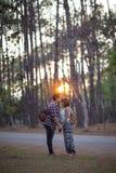 Romance dans la forêt Photo libre de droits