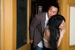 Romance dans le bureau Image stock