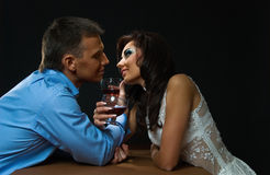 Romance in a dark Stock Photos