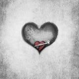 Romance de caverne de coeur Photo stock