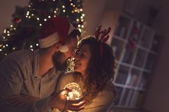 Romance de la Navidad imagen de archivo libre de regalías