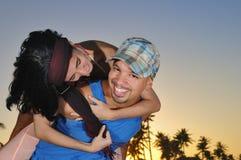 Romance de la playa foto de archivo libre de regalías