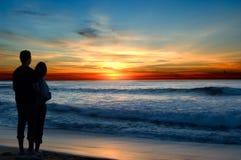 Romance de la puesta del sol fotos de archivo