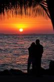 Romance de la puesta del sol Foto de archivo libre de regalías
