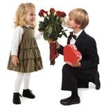 Romance de la tarjeta del día de San Valentín Imagen de archivo libre de regalías